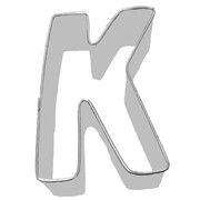 Alphabet Cookie Cutter - Letter K (3in.) Pk 1