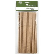 Kraft Brown Eco Paper Straws Pk 40