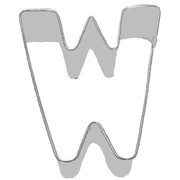 Alphabet Cookie Cutter - Letter W (3in.) Pk 1