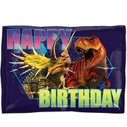 Jurassic World Dinosaur Happy Birthday Foil Balloon (16in. x 12in.) Pk 1