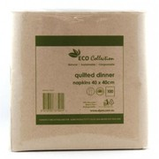 Eco Natural Kraft Brown Quilted Dinner Napkins Pk 100