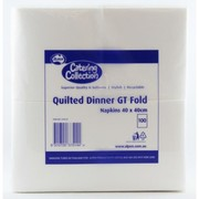 White Quilted Dinner GT Fold Paper Napkins Pk 1000