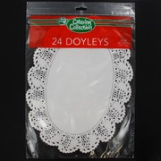 White Oval Doilies 260x355mm Pk24