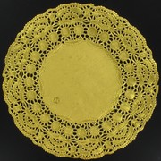 Gold Round Doilies 215mm Pk12