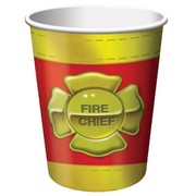 Fire Engine Party Cups - 9oz (266ml) Firefighter Pk8