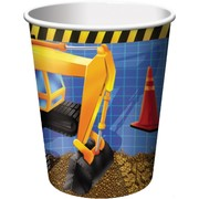 Under Construction Party Cup - 9oz (266ml) Pk8