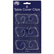 Tablecover Clips Clear Pk6