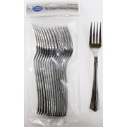 Metallic Silver Party Forks Pk16