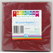 Burgundy Party Napkins - Lunch 2 ply Pk50