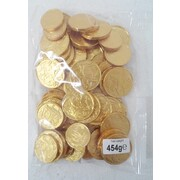 Assorted Milk Chocolate Coins (454g in Total - Approx. 23 Coins)