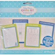 Baby Shower Boy Assorted Game Kit for up to 20 Guests Pk 1