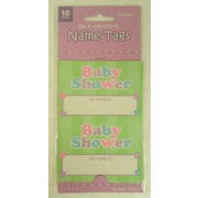 Baby Shower Self-Adhesive Name Tags Pk 16