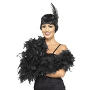 Deluxe Black Feather Boa Pk 1 (FEATHER BOA ONLY)