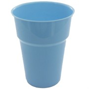 Light Blue Plastic Cups - 285ml Pk25