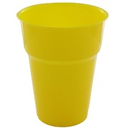 Yellow Plastic Cups - 285ml Pk25
