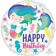 Happy Birthday Sealife 17in. Foil Balloon Pk 1
