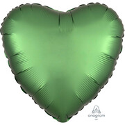 Satin Emerald Green 17in. Heart Foil Balloon Pk 1
