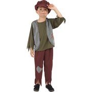 Child Victorian Poor Boy Costume - Medium 7-9 Yrs