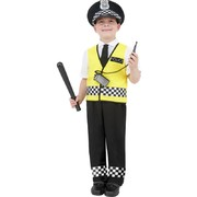 Child Police Boy Costume - Small 4-6 Yrs