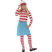 Child Where's Wally Wenda Costume - Medium 7-9 Yrs