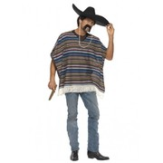 Adult Mexican Poncho Costume (One Size) Pk 1 (PONCHO ONLY)