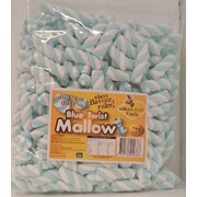 Blue & White Twist Marshmallows (1kg)