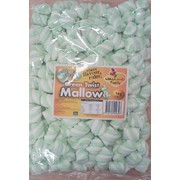 Green & White Twist Marshmallows (1kg)