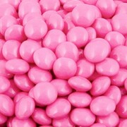 Pink Chocolate Button Drops 1kg