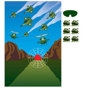 Army Camouflage Pin the Tank Party Game Pk 1
