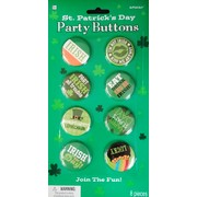 St. Patrick's Day Assorted Badges Buttons Pk 8