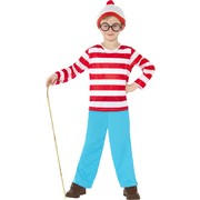 Child  Where's Wally Costume - Medium 7-9 Yrs