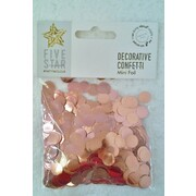 Metallic Rose Gold Foil Confetti Scatters (20g) Pk 1