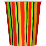 Fiesta Stripes 9oz Paper Cups Pk 8