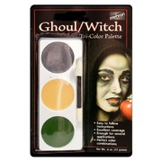 Ghoul / Witch Tri-Colour Make-Up Palette Pk 1
