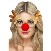 Christmas Reindeer Glasses with Nose Pk 1
