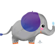 Elephant Supershape Foil Balloon (86cm x 50cm) Pk 1