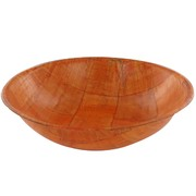 Wood Salad Party Bowl - 20cm Woven Look Pk1
