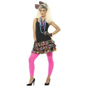 Adult 80's Party Girl Costume Set (Small - Medium) Pk 1
