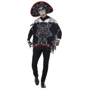 Adult Day of Dead Bandit Costume (One Size)