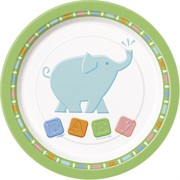 Animal Crackers 7in Paper Plates Pk 8