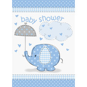 Blue Umbrellaphants Invitations Pk 8