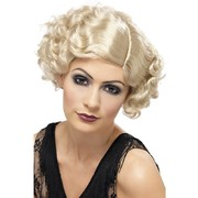 Flirty Flapper Short Blonde Curly Wig Pk 1