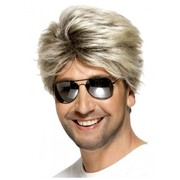 80's Street Style Blonde Short Straight Male Wig Pk 1
