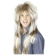 80's Mega Mullet Long Blonde & Brown Wig Pk 1