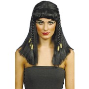 Long Black Cleopatra Wig Pk 1
