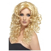 Long Blonde Curly Glamour Wig Pk 1