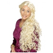 Extra Long Curly Blonde Guinevere Renaissance Wig Pk 1