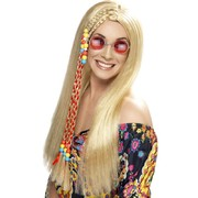Long Blonde Hippie Party Wig Pk 1 (Wig Only)