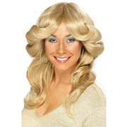 70s Flick Style Long Blonde Wig Pk 1
