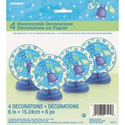 It's A Boy Blue Baby Shower 6in. Mini Honeycomb Decoration Pk 4